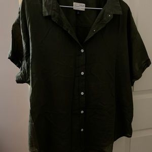 Universal Thread olive green button down
